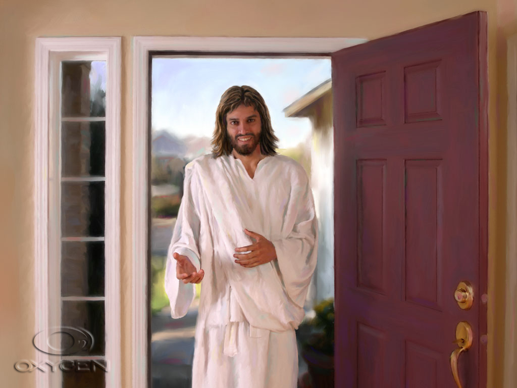 Jesus in a house